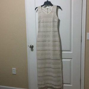 Cato x-small cream maxi dress